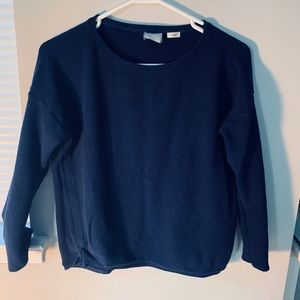 Anthropologie Navy Cotton Knit Sweater XS